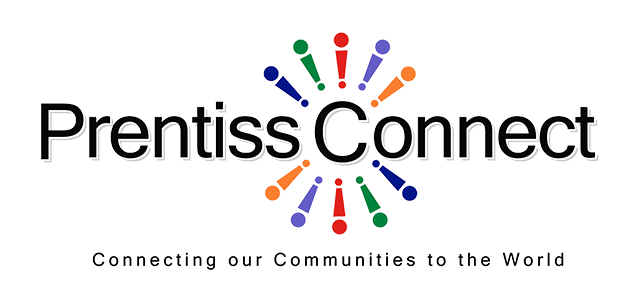 Logo - Prentiss Connect, Connecting our Communities to the World